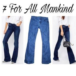 Charlize Dark Wash Mid Rise Denim Jeans by 7FAM